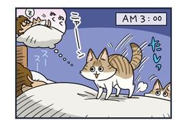 ノルウェージャンとペルシャ、布団にハマる【猫漫画傑作選】